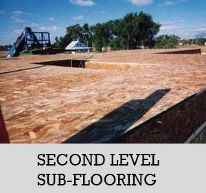 11 - second level sub-flooring