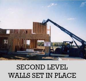 12 - second level walls set into place