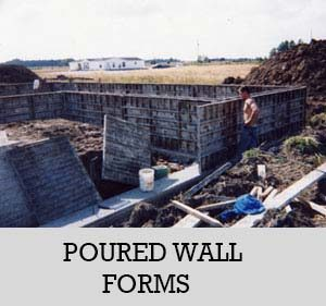 5 - poured wall forms