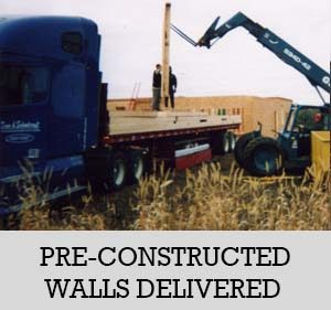8 - preconstructed walls delivered