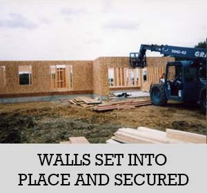9 - walls set into place